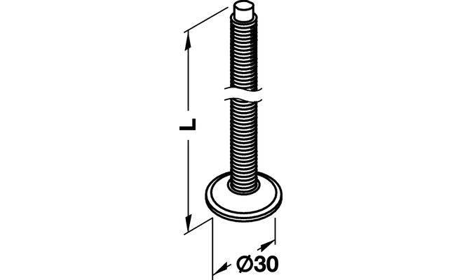 Опора кухонная регулируемая 100 - c35a