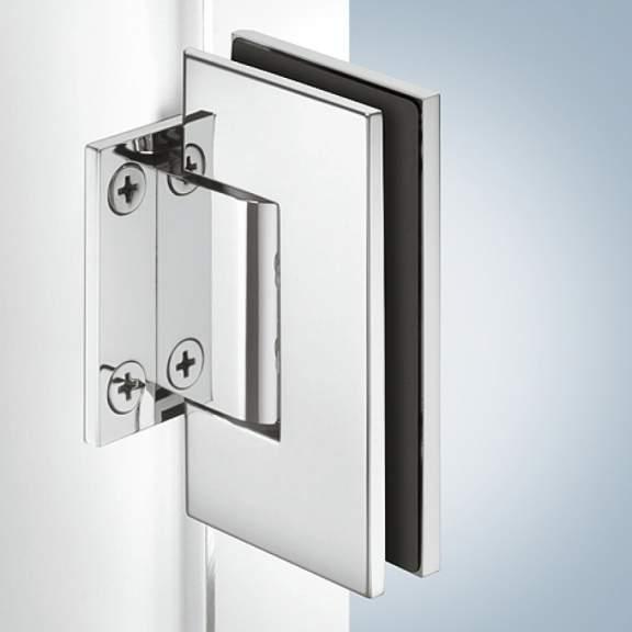 петля для душевой кабины Aquasys стена стекло латунь хромированная полированная 90 для стекла 8 12 мм